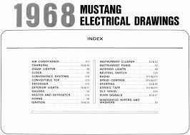 mustang wiring diagrams and vacuum schematics average joe 1968 mustang wiring diagram toc