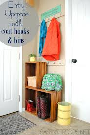 behind the door coat rack an easy upgrade for a small space burger entry  with built . behind the door coat rack ...
