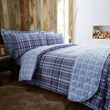 single duvet cover brushed cotton hughes check tap to expand