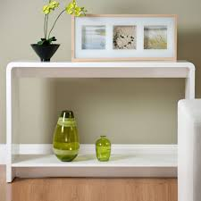 slim entry table. Console Table White Gloss Modern With Extra Space Aico Bedding Depth Michael Amini Bedroom Slim Entry