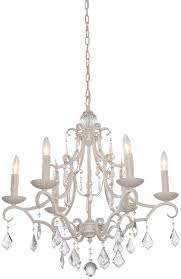 artcraft cl1576aw vintage antique white chandelier light loading zoom
