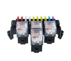 details about 10 way fuse box 5 pin socket base relay fuse holder block standard blade fuses