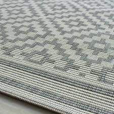 grey outdoor rug grey and white