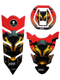 Pulsar Sticker Design Top And Town Customize Bajaj Pulsar Ns 200 Tank Pad Fuel Cap