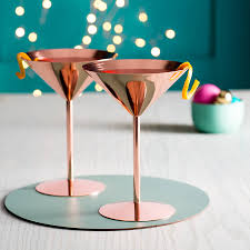 copper rose cocktail glass