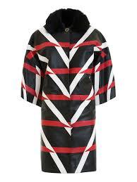 class roberto cavalli چرم patterned leather kimono coat