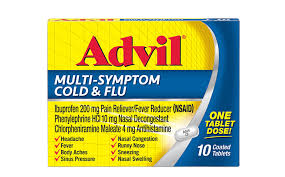 Influenza Dosage Chart Advil Multi Symptom Cold Flu