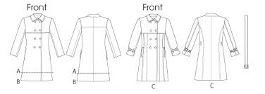 Trench Coat Pattern Unique V48 Misses' DoubleBreasted Trench Coats And Belt Sewing Pattern
