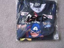 leeds rhinos home superhero rugby league shirt 2xl size isc make bnwt