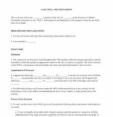 Last Will And Testament Template Word Pdf