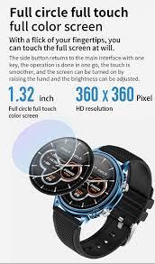 Uonevic Smartwatch, Màn Hình Cảm Ứng Toàn Màn Hình CF81 1.32 Inch Dự Báo  Thời Tiết Đồng Hồ Thông Minh Chống Nước IP67 Nhiều Mặt Dành Cho Nam Wonmen  Dành Cho IOS/Android