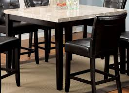 marion ii marble top 48 square counter height table