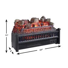 com pleasant hearth lh 24 electric log insert with heater home kitchen