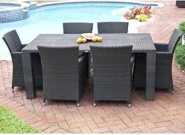 outdoor wicker dining furniture collection outdoor wicker dining table and chairs modern patio outdoor wicker dining