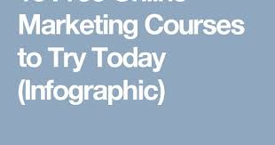 10 Free Online Marketing Courses to Try Today (Infographic) | Work ...