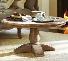 image of modern round coffee table wood