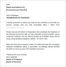 Letter To Discontinue Services Discontinue Of Services Letters Samples