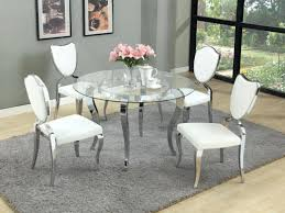 round glass dining table round set sets chairs refined top room furniture dinette small and