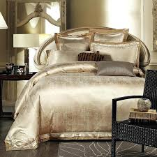 gold bedding sets gold white blue jacquard silk bedding set luxury satin bed set duvet cover