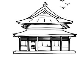 Coloriage Maison Chinoise Imprimer