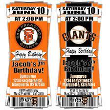 San Francisco SF Giants Birthday Party ...