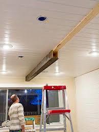 how to make diy rustic wood beams for