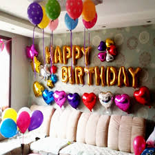 birthday decoration with balloons for husband balloon decoration