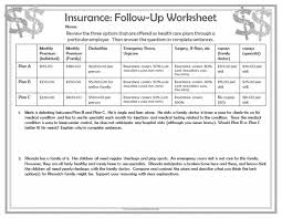 Teaching Budgeting Worksheets Middle School Math Worksheet Teaching Personal Financ On A Student
