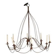 large rustic french provincial eight light chandelier
