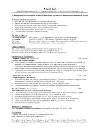 Sample Resume For Entry Level Technical Support Valid Resume