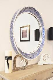 Here we have a Stunning and unique circular mirror , the item has a  beautiful mosaic