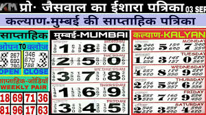 04 09 2018 Kalyan Strong Weekly Chart Free Kalyan Open Today