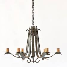 flemish basket chandelier antique vintage old belgium france iron