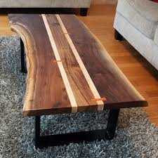 walnut live edge coffee table k