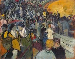 spectators in the arena at arles 1888