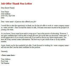 Job Offer Acceptance Thank You Letter Zaxa Tk