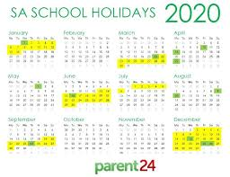 Printable School Year Calendars Print It Sas 2020 School Holiday Calendar Parent24