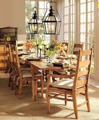 amazing country dining room interior decorations with traditional wooden dining chair also twin hanging lantern over wooden dining table feat yellow fl