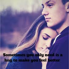 in this hug there is a feeling of fort through this hug couples are giving a message to each other that they will always be there for them