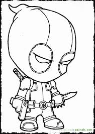 Small Picture Deadpool Coloring Pages Coloring Home
