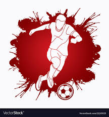 Soccer Graphic Design Soccer Player Running And Kicking A Ball