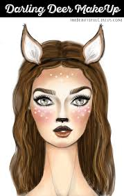deer makeup for darling deer make up the beautifulcircus