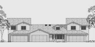 d 437 triplex house plans triplex house plans with garage one story triplex