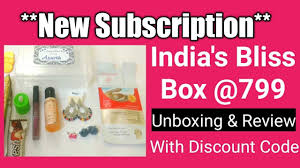 new subscription india s bliss box lifestyle makeup jewellery unboxing review