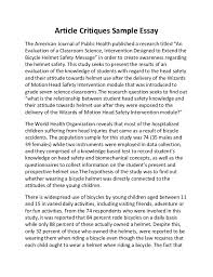"article critiques sample essay article critiques sample essay the american journal of public health published a research titled ""an"