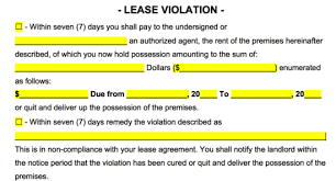 Lease Violation Form Free Alabama Eviction Notice Forms Notices To Quit Pdf Word