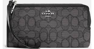 ... low price coach zippy wallet in signature fabric in gray lyst e5302  8c3b5 ...