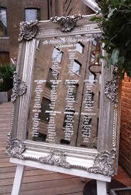 Mirror Table Seating Chart Mirror Table Seating Wedding Slubne Suknie Info