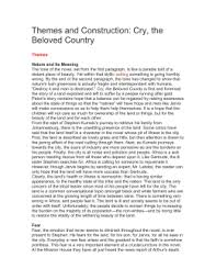 compare and contrast essay cry the beloved country themes and construction cry the beloved country themes nature