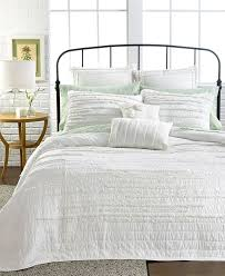 23 best bedding images on Pinterest   Blue bedding, Candies and ... & Nostalgia Home Bedding, Neveah White Full/Queen Quilt - Quilts & Bedspreads  - Bed & Bath - Macy's Adamdwight.com